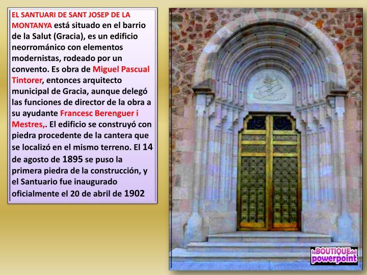 EL SANTUARI DE SANT JOSEP DE LA MONTANYA
