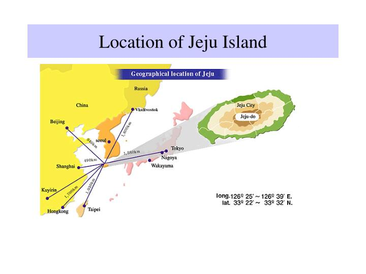 Location of jeju island