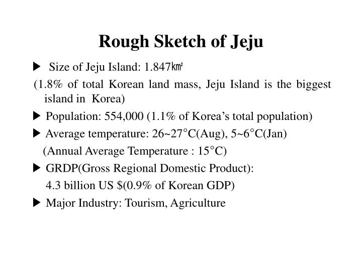 Rough sketch of jeju