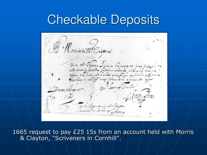 Checkable Deposits