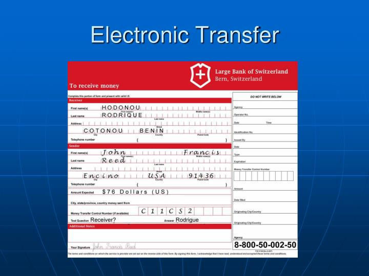 Electronic Transfer