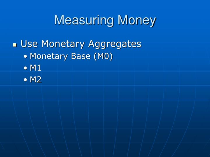 Measuring Money