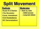 split movement