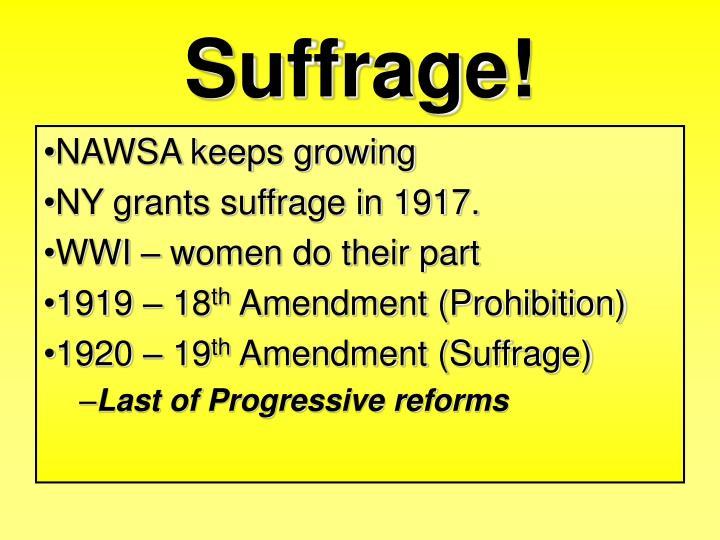 Suffrage!