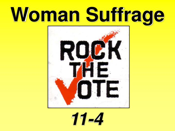 Woman Suffrage
