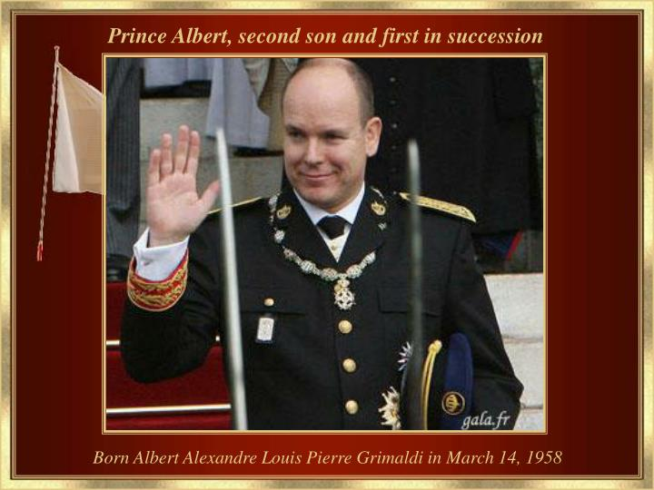Prince Albert, second son and first in succession