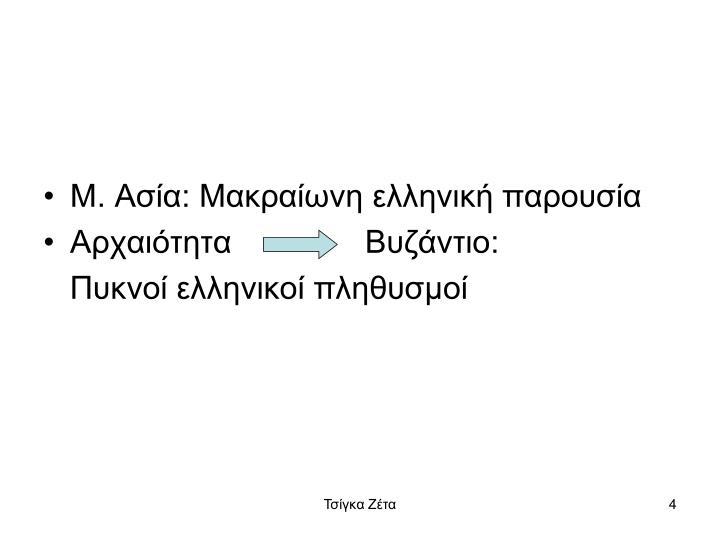 Μ. Ασία: Μακραίωνη ελληνική παρουσία