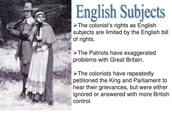 English Subjects
