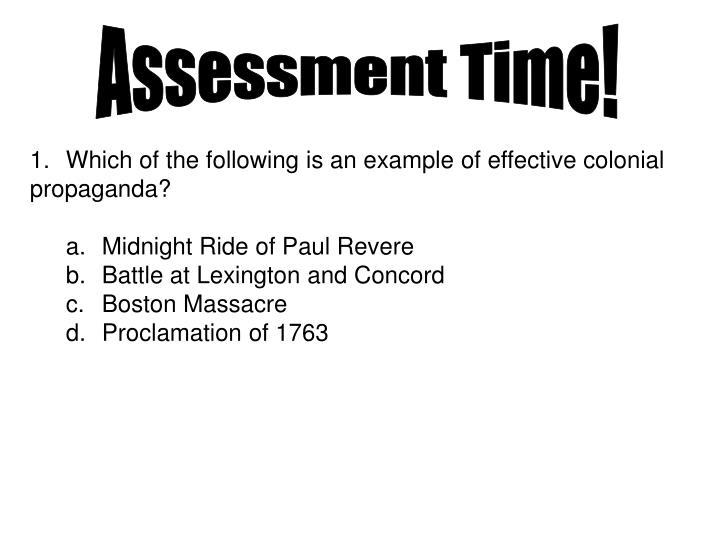Assessment Time!