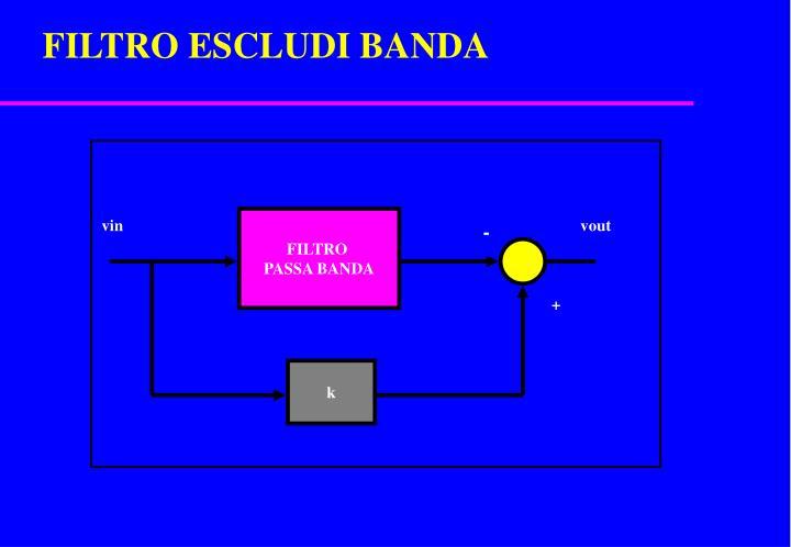 FILTRO ESCLUDI BANDA