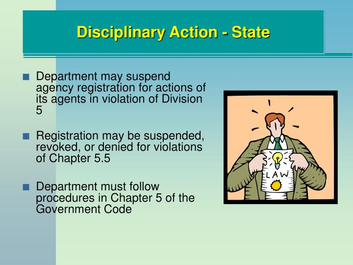 Disciplinary Action - State
