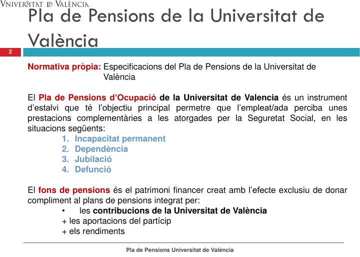 Pla de Pensions de la Universitat de València