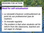 reasons for action1