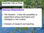 reasons for action5