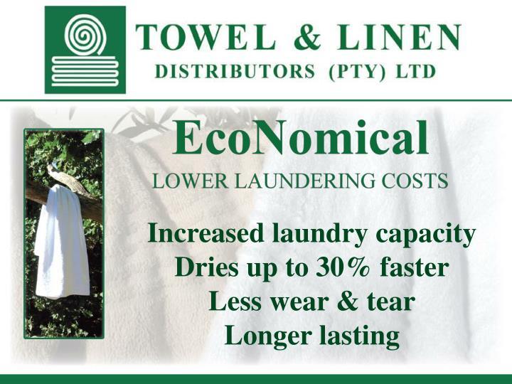Increased laundry capacity