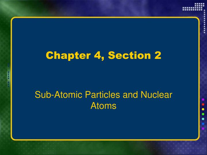 Chapter 4, Section 2