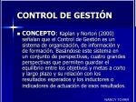 control de gesti n