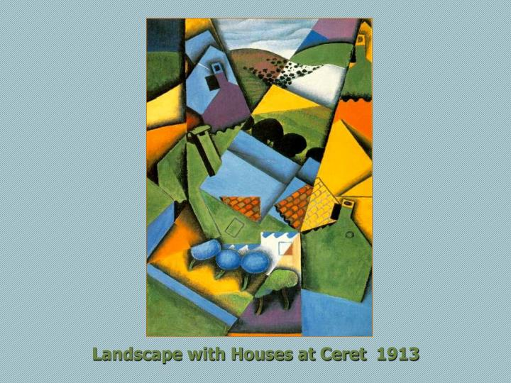 Landscape with Houses at Ceret  1913