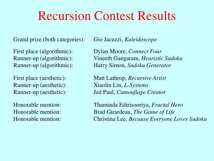 Recursion Contest