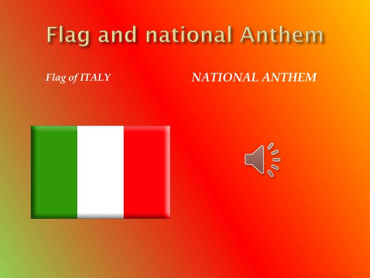 Flag and national Anthem