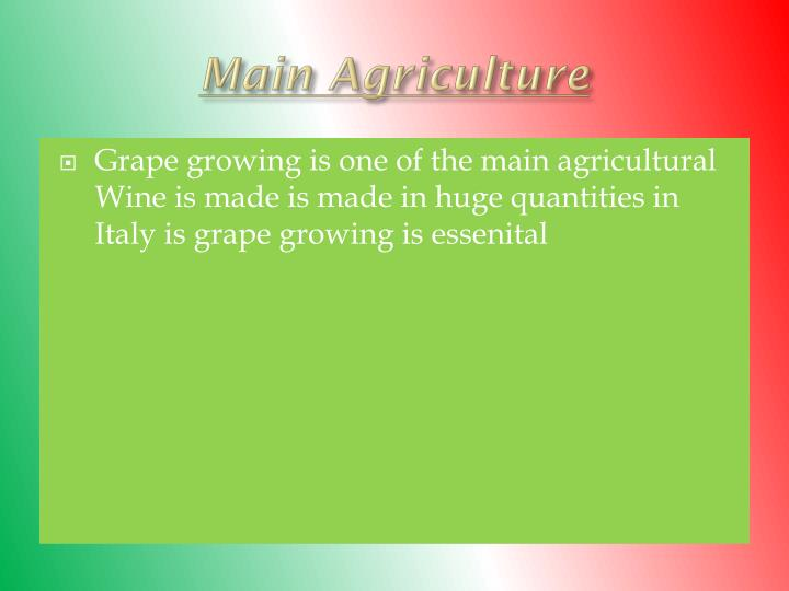 Main Agriculture