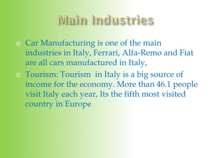 Main Industries