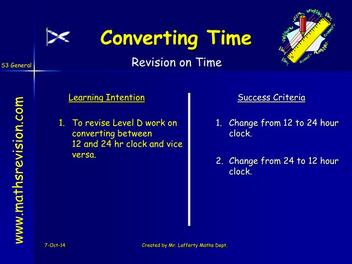 Revision on Time