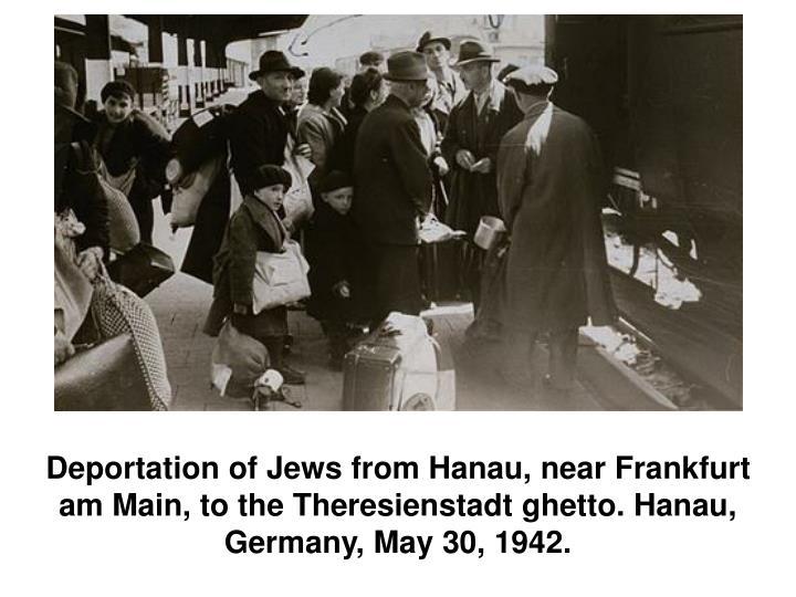Deportation of Jews from Hanau, near Frankfurt am Main, to the Theresienstadt ghetto. Hanau, Germany, May 30, 1942.