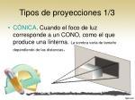 tipos de proyecciones 1 3