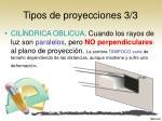 tipos de proyecciones 3 3