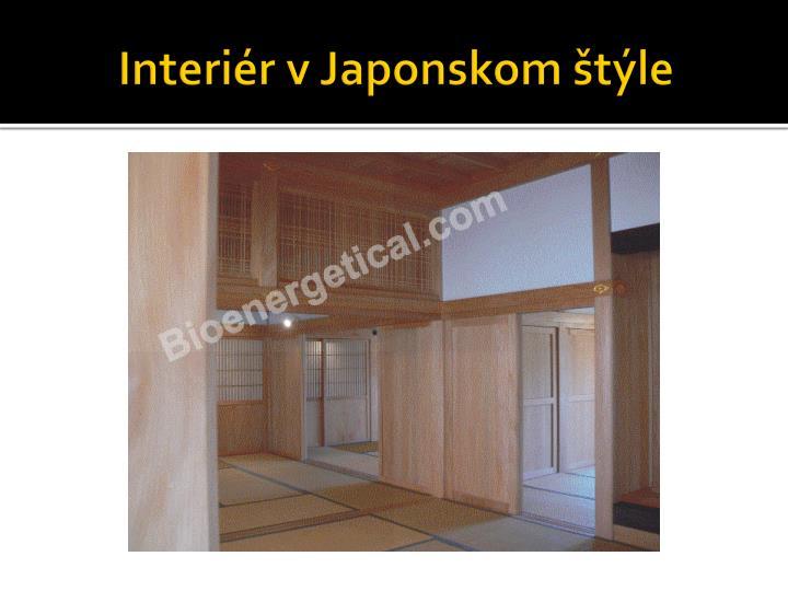 Interiér v Japonskom štýle