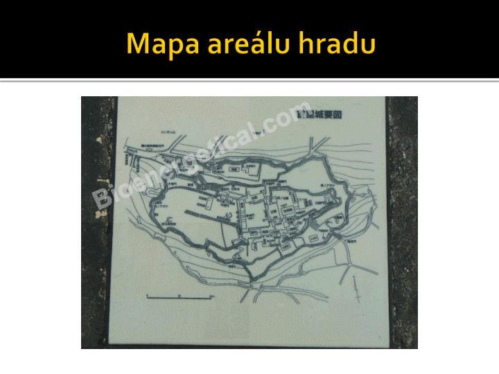Mapa areálu hradu