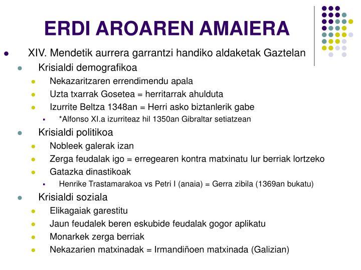 ERDI AROAREN AMAIERA