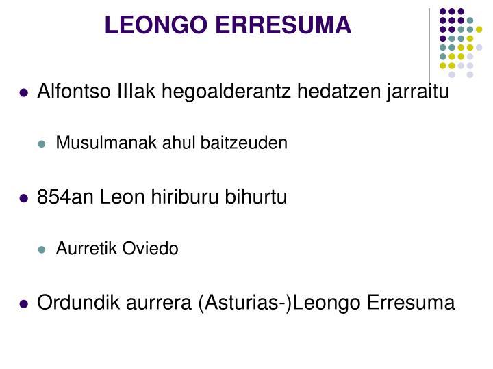LEONGO ERRESUMA