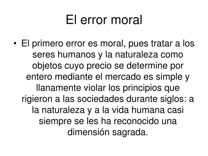 El error moral