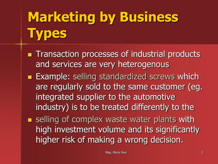Marketing by business types1