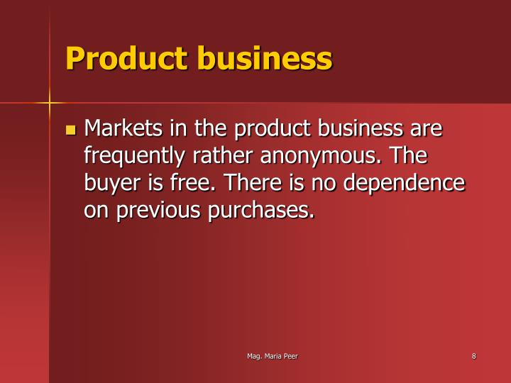 Product business