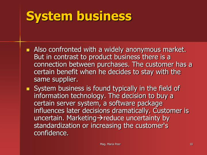 System business