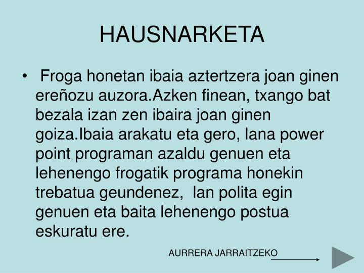 HAUSNARKETA