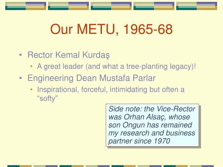 Our METU, 1965-68