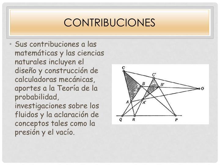 Contribuciones