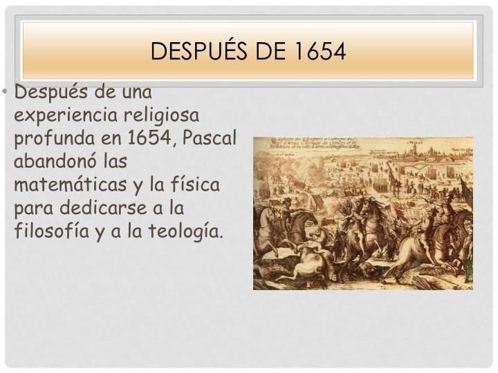 Después De 1654