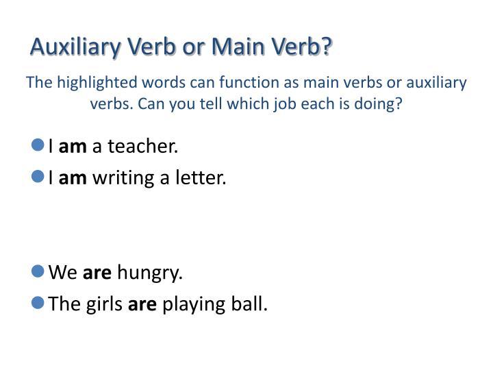 Auxiliary Verb or Main Verb?