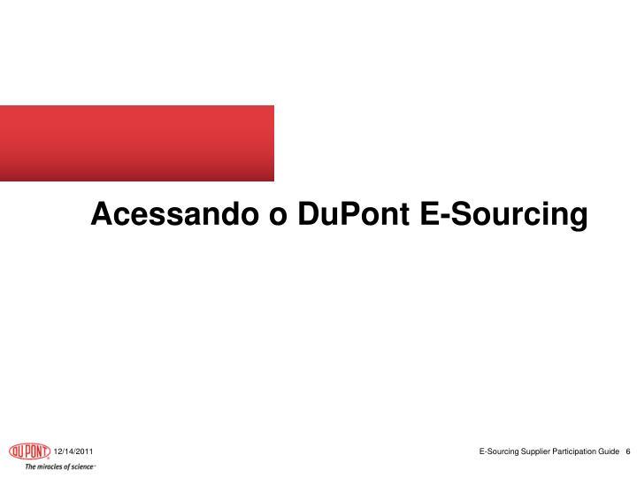 Acessando o DuPont E-Sourcing