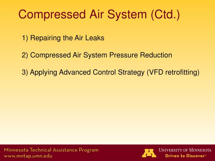 Compressed Air System (