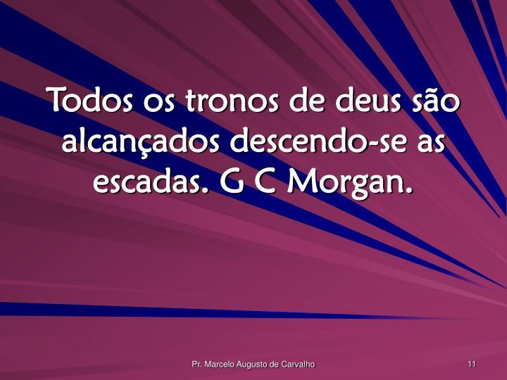 Todos os tronos de deus são alcançados descendo-se as escadas. G C Morgan.
