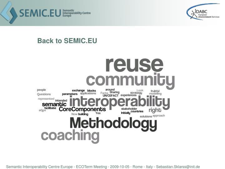 Back to SEMIC.EU