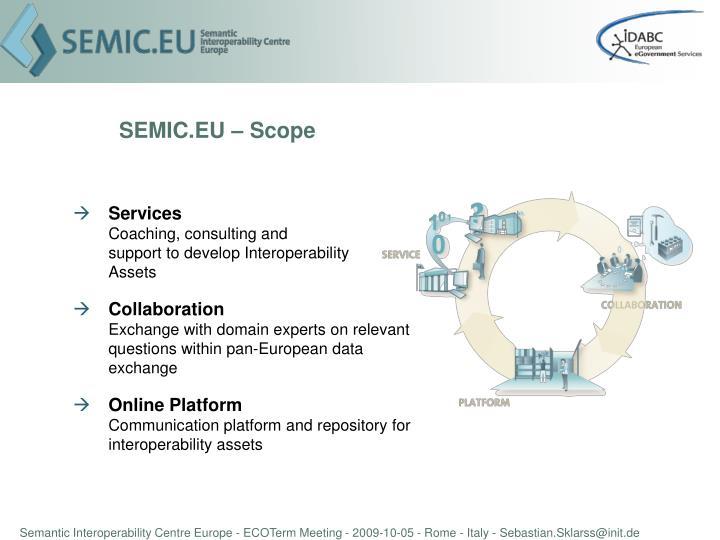 SEMIC.EU – Scope