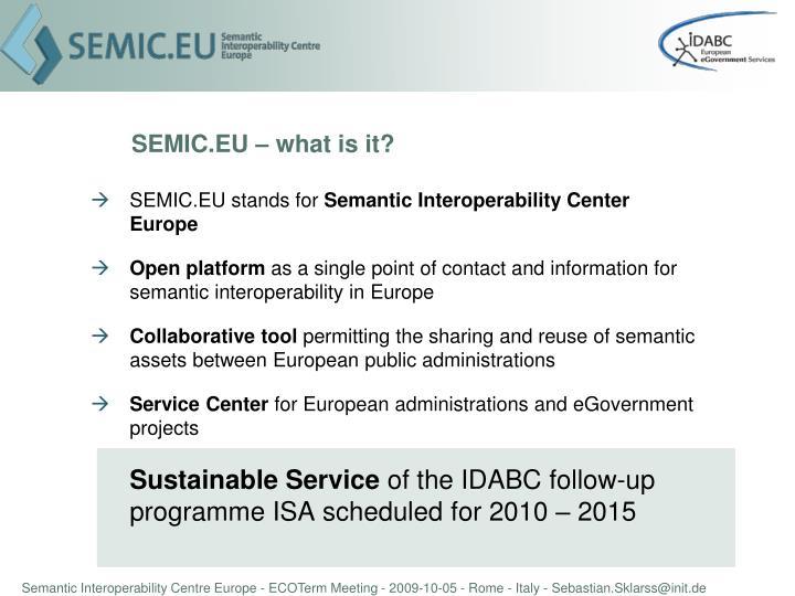 SEMIC.EU – what is it?