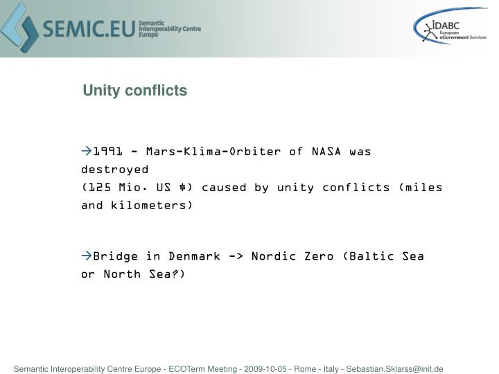 Unity conflicts